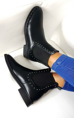 View the Robyn Studded Chelsea Faux Leather Ankle Boots online at iKrush