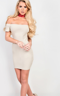 View the Vivian Knitted Bodycon Dress online at iKrush