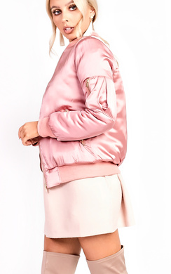 View the Izzy Satin Bomber Jacket online at iKrush