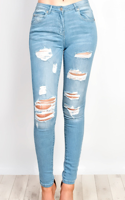 View the Adrienna Ripped Skinny Jeans online at iKrush