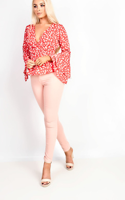 View the Coryn Wrap Flared Sleeve Blouse online at iKrush