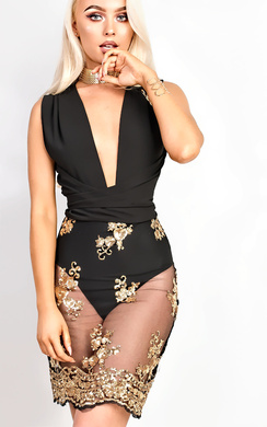 View the Polly Sequin Bodycon Dress online at iKrush