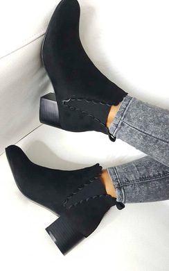 View the Alisa Faux Suede Ankle Boots online at iKrush