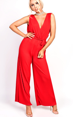 View the Tia Tie Waist Wide Leg Jumpsuit online at iKrush