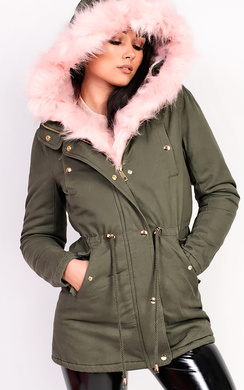 View the Sylvia Padded Faux Fur Hooded Jacket online at iKrush