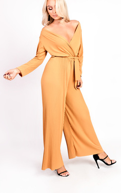 View the Amina Pleated Wrap Jumpsuit online at iKrush