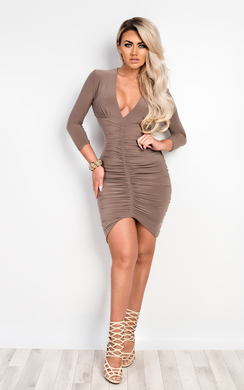 View the Ryder Ruched Bodycon Dress online at iKrush