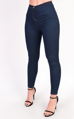 View the Amy High Waisted Skinny Stretch Jeans online at iKrush