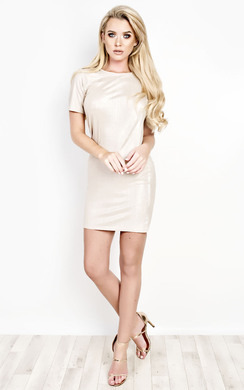 View the Florence Ribbed Mini Dress online at iKrush