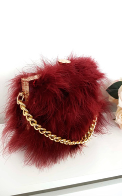 View the Lyla Feather Shoulder Bag online at iKrush