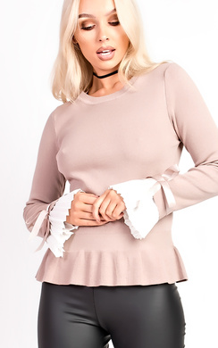 View the Louisa Pleated Sleeve Jumper online at iKrush
