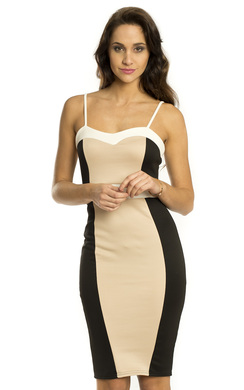 View the Layla Midi Colour Block Bodycon Dress online at iKrush