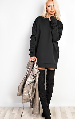View the Grace Oversized Jumper Dress online at iKrush