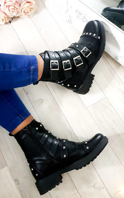 View the Brogan Studded Buckle Ankle Boots  online at iKrush