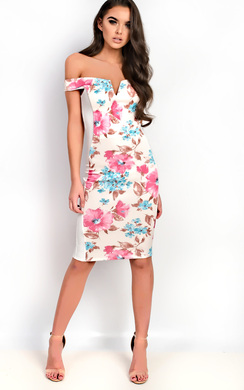View the Jelena Bardot Floral Midi Dress online at iKrush