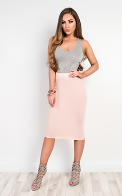 View the Elisheva Basic Midi Skirt online at iKrush