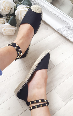 View the Kadie Studded Espadrilles online at iKrush