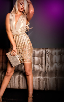 View the Rozelle Sequin Bodycon Dress online at iKrush