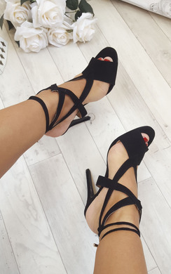View the Skylyn Faux Suede High Heels online at iKrush