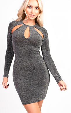 View the Alex Slinky Cut Out Bodycon Dress online at iKrush