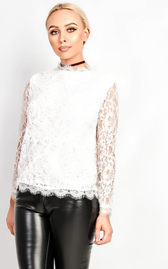 View the Kaira Lace Applique Top online at iKrush