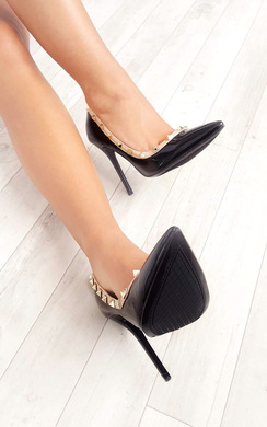 View the Darla Studded Court Heels online at iKrush