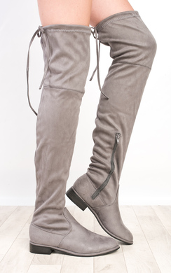 View the Lillia Flat Knee High Boots online at iKrush