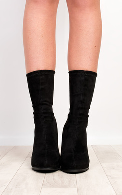 View the Saint Faux Suede Heeled Boots online at iKrush