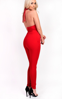 View the Anna Slim Leg Embellished Jumpsuit online at iKrush