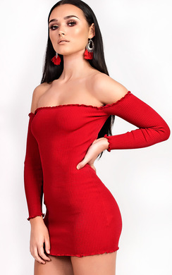View the Loudria Bardot Stretch Mini Dress online at iKrush