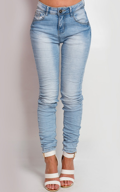View the Bella Distressed Skinny Jeans online at iKrush