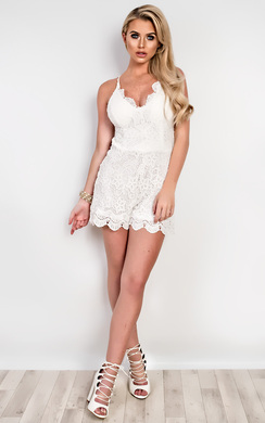 View the Stacie Lace Playsuit online at iKrush