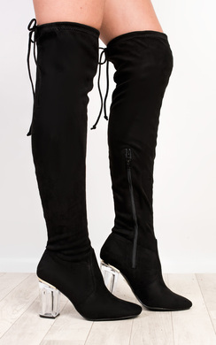 View the Reign  Faux Suede Heeled Boots  online at iKrush