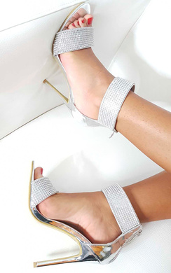 View the Arianna Diamante Strap Barely There Heels online at iKrush