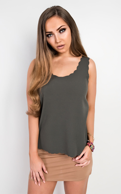 View the Salima Scalloped Vest Top  online at iKrush