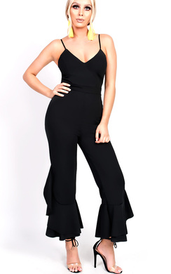 View the Maxine Flared Leg Strappy Jumpsuit online at iKrush