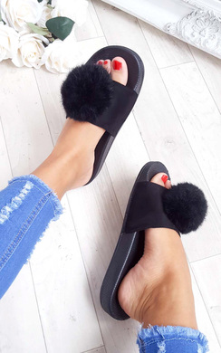 View the Nikki Pom Pom Sliders  online at iKrush