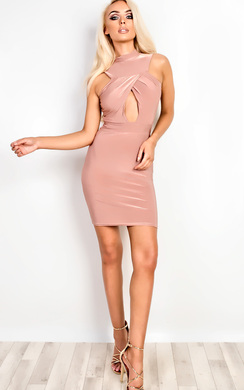 View the Clarity Cut Out Bodycon Dress online at iKrush