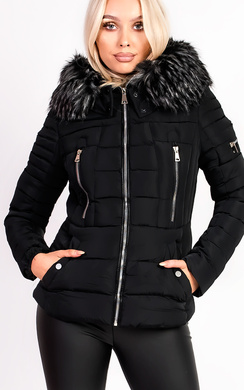 View the Carolina Padded Faux Fur Hooded Jacket online at iKrush