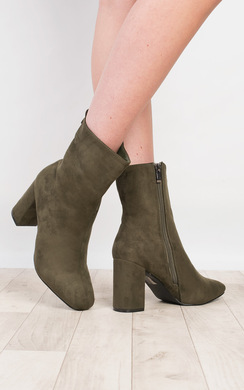 View the Lexie Faux Suede Boots online at iKrush