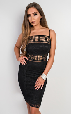 View the Jordanna Lace Bodycon Dress online at iKrush