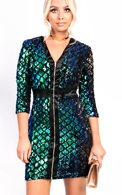 View the Kadey Sequin Bodycon Dress online at iKrush