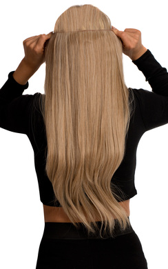 View the Intense Volume Clip In Hair Extensions - Flicky Honey Blonde online at iKrush
