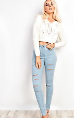 View the Viviene Ripped Skinny Jeans online at iKrush