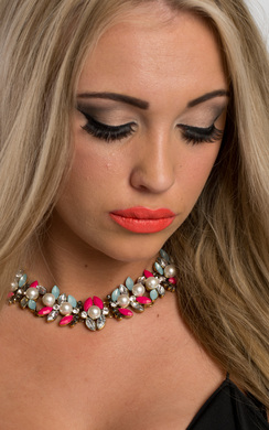 View the Aquila Floral Necklace online at iKrush
