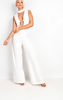 View the Lana Choker Detail Jumpsuit online at iKrush