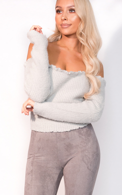 View the Tianna Cropped Bardot Knit Jumper  online at iKrush