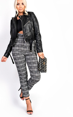 View the Callie High Waisted Tie Tailored Trousers online at iKrush