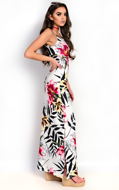 View the Brianna Floral Slit Side Maxi Dress online at iKrush
