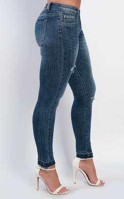 View the Lileas Ripped Skinny Jeans online at iKrush